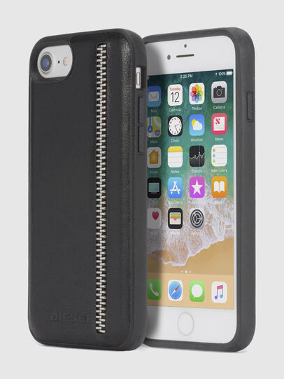 Diesel - ZIP BLACK LEATHER IPHONE 8/7/6s/6 CASE,  - Cases - Image 1