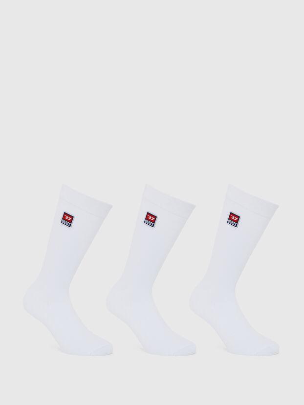 SKM-RAY-THREEPACK, White - Socks