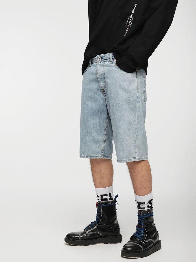 Diesel - KEESHORT, Light Blue - Shorts - Image 1