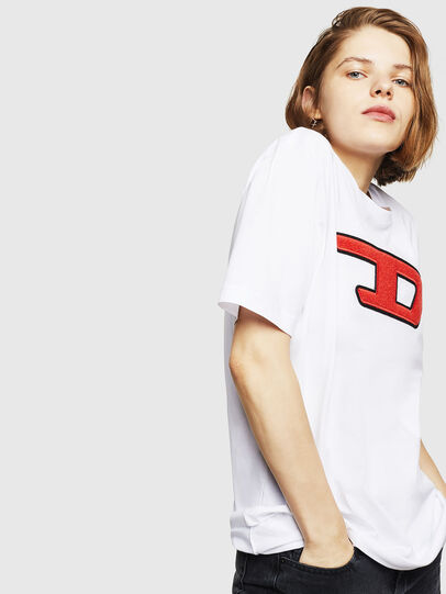 Diesel - T-JUST-DIVISION-D-FL, White - T-Shirts - Image 5