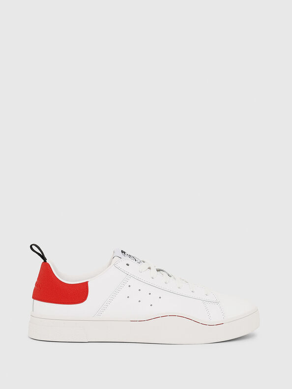 S-CLEVER LOW, White/Red - Sneakers