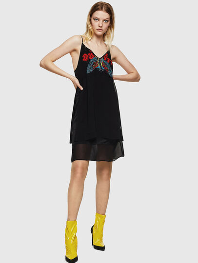 Diesel - D-SLIPPY, Black - Dresses - Image 1