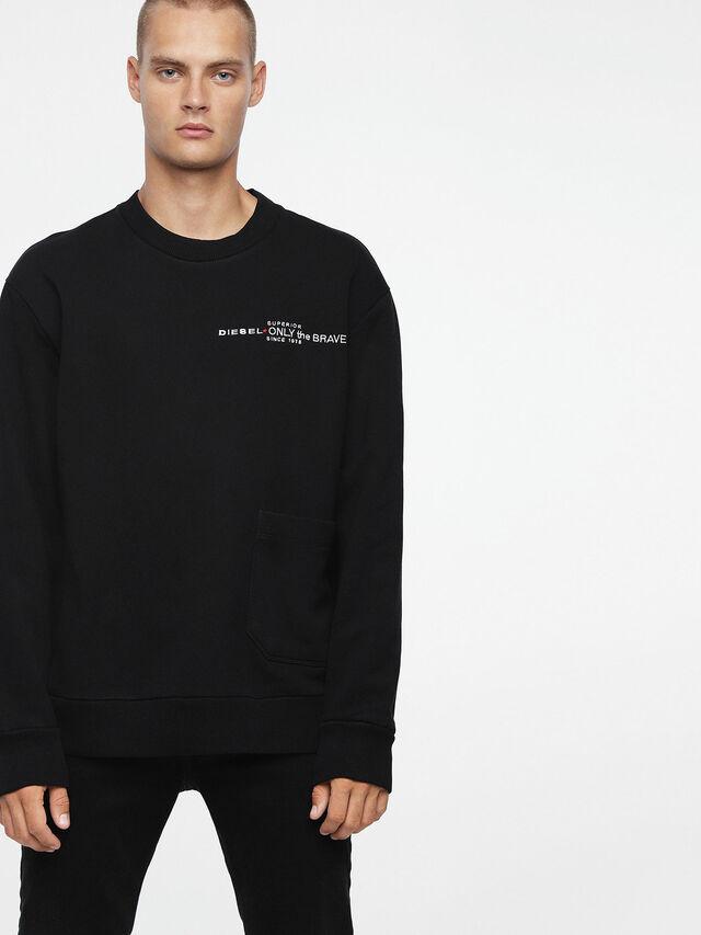 Diesel S-ELLIS-CL, Black - Sweaters - Image 1