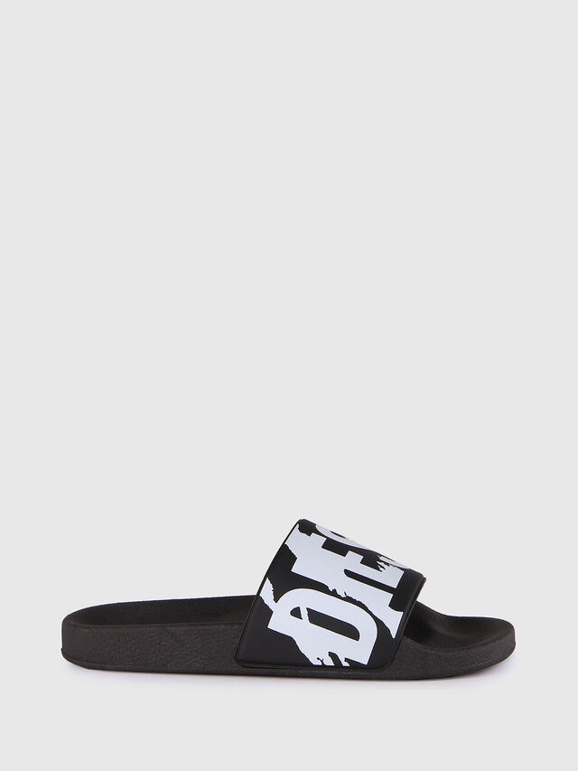 Diesel - SA-MARAL, Black/White - Slippers - Image 1