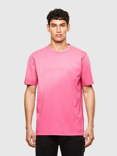 Diesel - T-JUBIND-SLITS-A1, Pink - T-Shirts - Image 1
