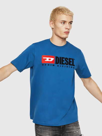 Diesel - T-JUST-DIVISION, Blue - T-Shirts - Image 1
