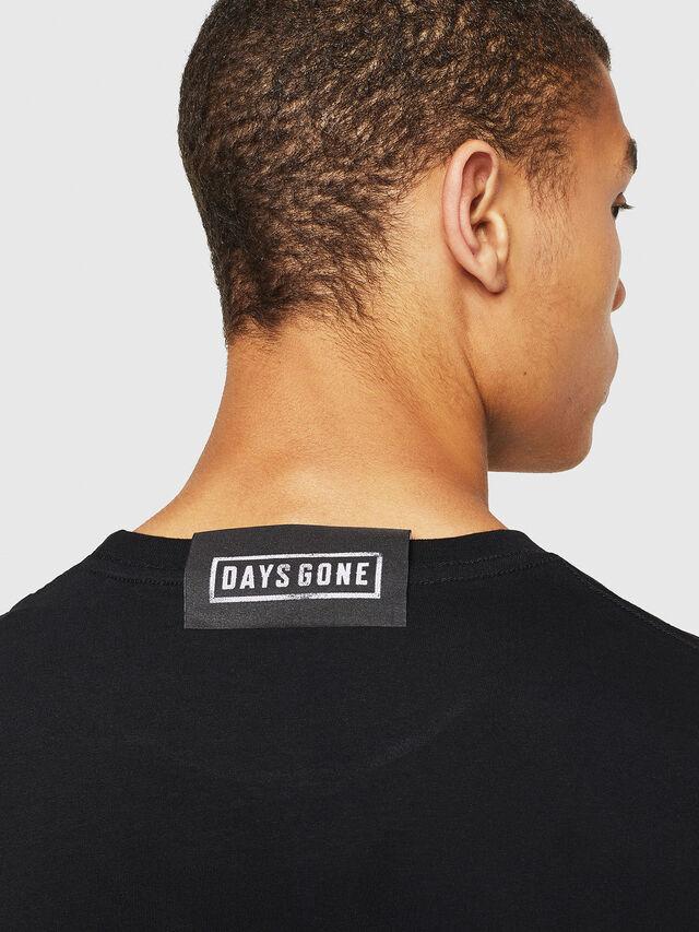 Diesel - PS-T-DIEGO-DAYSGONE, Black - T-Shirts - Image 5