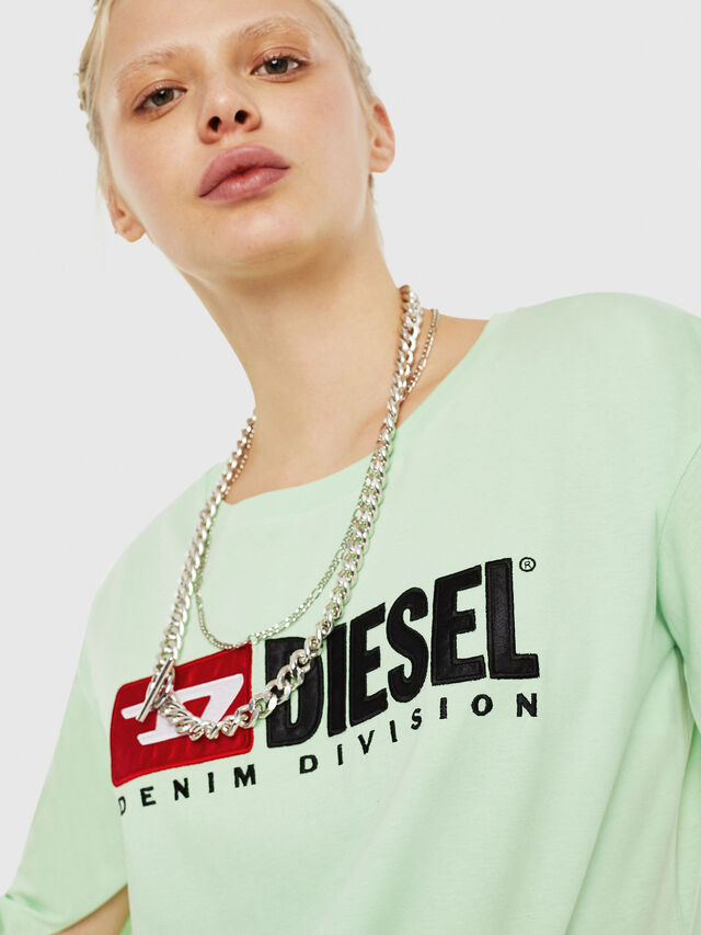 Diesel - T-JACKY-D, Green Fluo - T-Shirts - Image 3