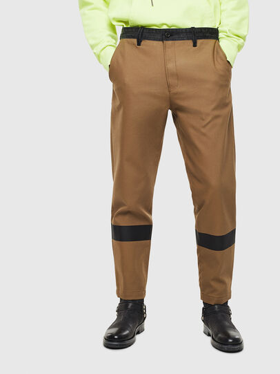 Diesel - P-KAPP, Brown/Black - Pants - Image 1