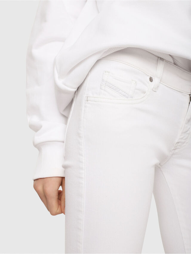 Diesel - Slandy Low 086AC, White - Jeans - Image 3