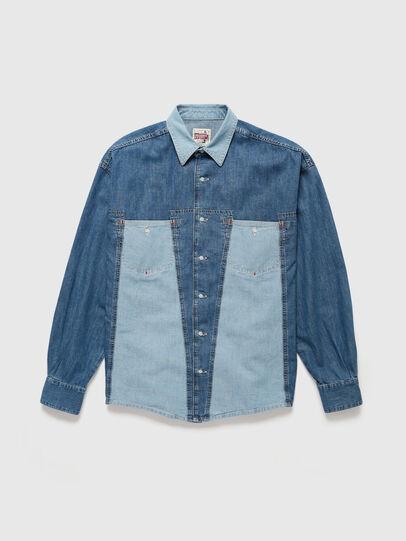 Diesel - DxD-SHIRT, Medium blue - Denim Shirts - Image 1