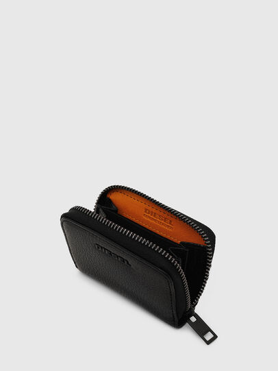 Diesel - JAPAROUND, Black/Orange - Zip-Round Wallets - Image 4