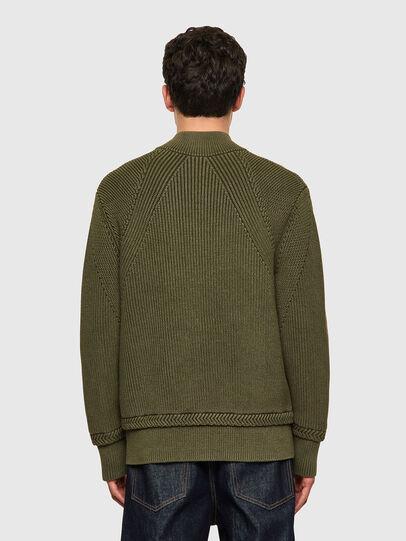 Diesel - K-MEXICO, Olive Green - Knitwear - Image 2