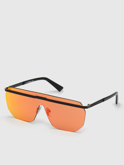 Diesel - DL0259, Orange/Black - Sunglasses - Image 4