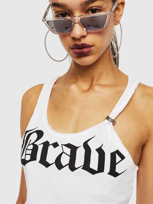 Diesel - T-KARY-A, White - T-Shirts - Image 3