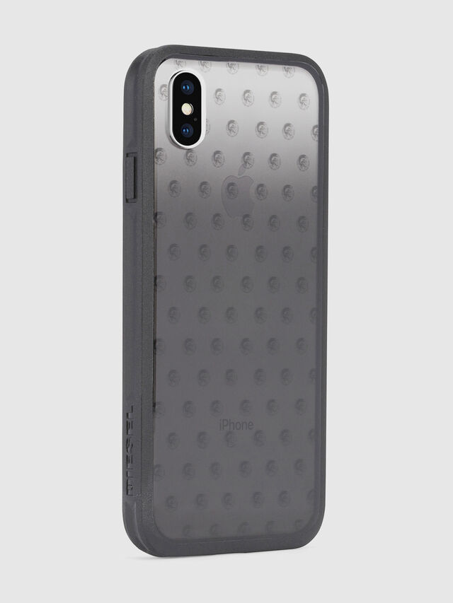 MOHICAN HEAD DOTS BLACK IPHONE X CASE, Black