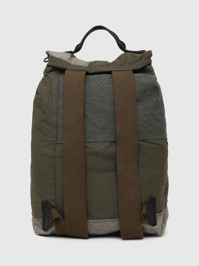 Diesel - VOLPAGO BACK ARMY, Olive Green - Backpacks - Image 2