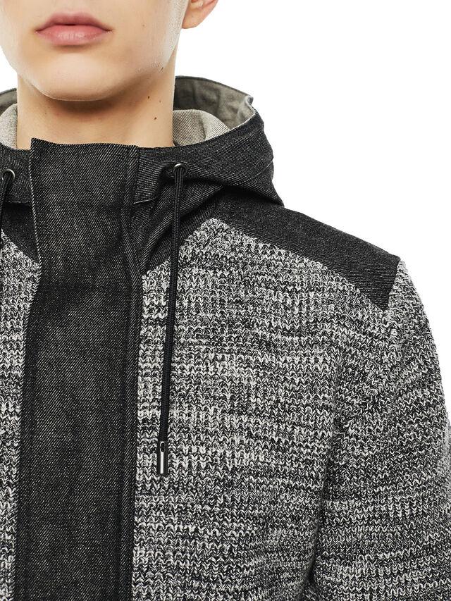 Diesel - KOMO-HOOD, Black/Grey - Knitwear - Image 3