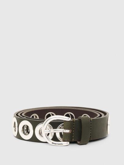 Diesel - B-SPARK, Olive Green - Belts - Image 1