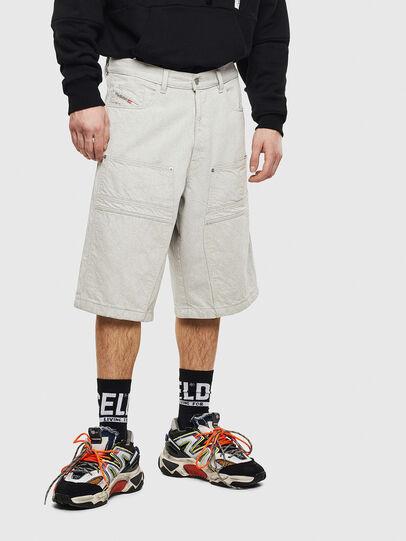 Diesel - D-RON, White - Shorts - Image 1