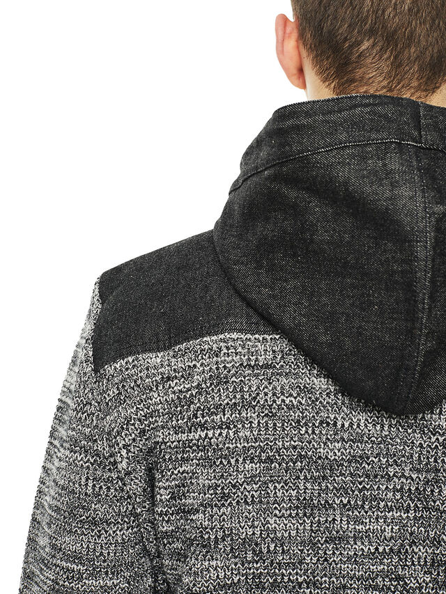 Diesel - KOMO-HOOD, Black/Grey - Knitwear - Image 4
