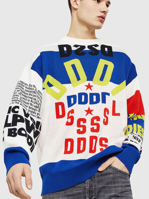 K-RUBLO, White/Red/Blu - Knitwear