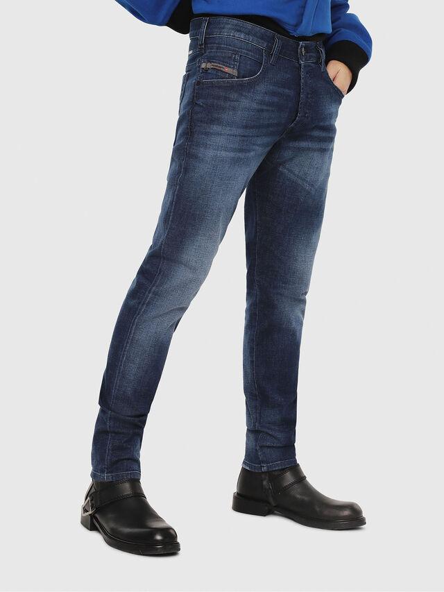 Diesel - D-Bazer 084GR, Dark Blue - Jeans - Image 1