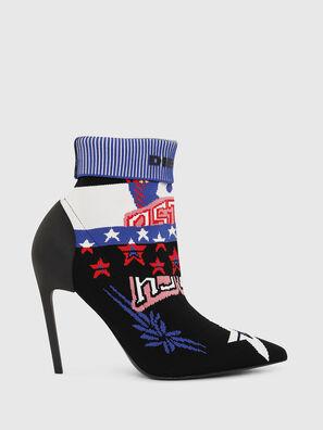 D-SLANTY HAB, Multicolor/Black - Ankle Boots