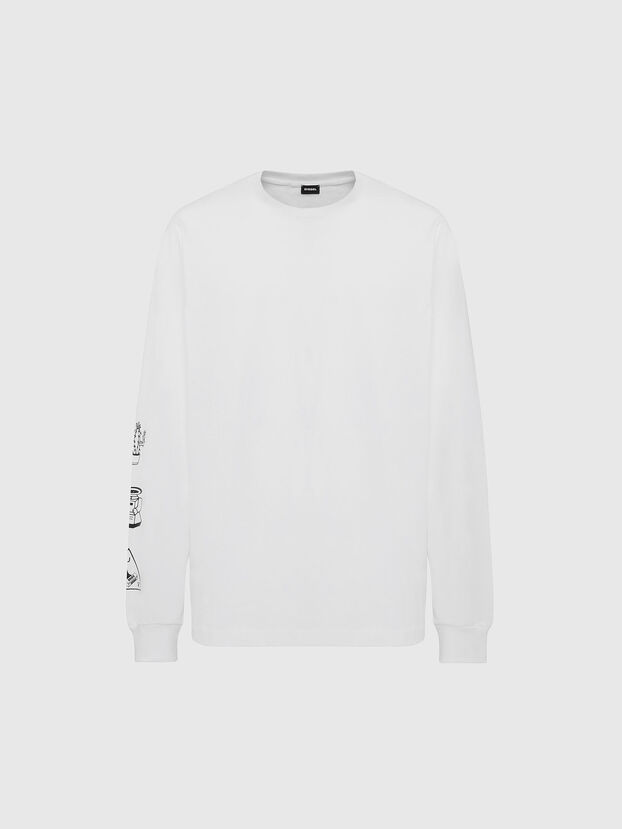 T-JUST-LS-X90, White - T-Shirts