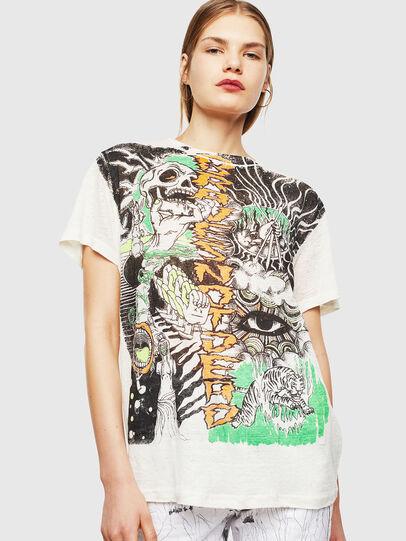 Diesel - T-DARIA-YB, White - T-Shirts - Image 1