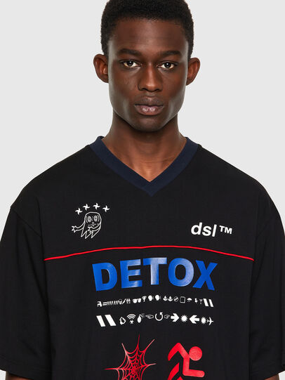 Diesel - T-DELPHIVY-SLITS, Black - T-Shirts - Image 3