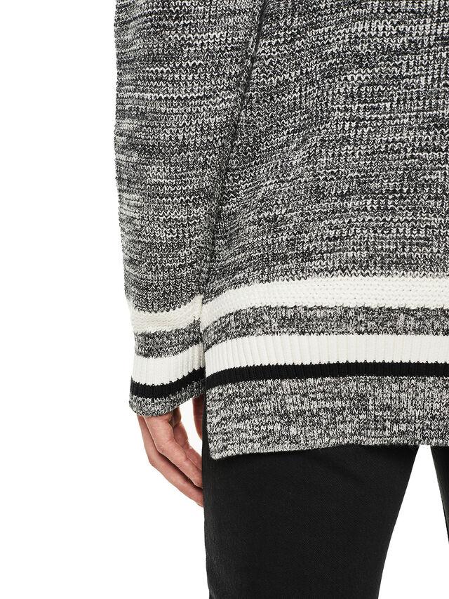 Diesel - KOMO-HOOD, Black/Grey - Knitwear - Image 5