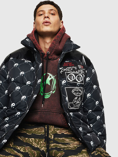 Diesel - W-PIATIG-PEACE, Black - Winter Jackets - Image 4