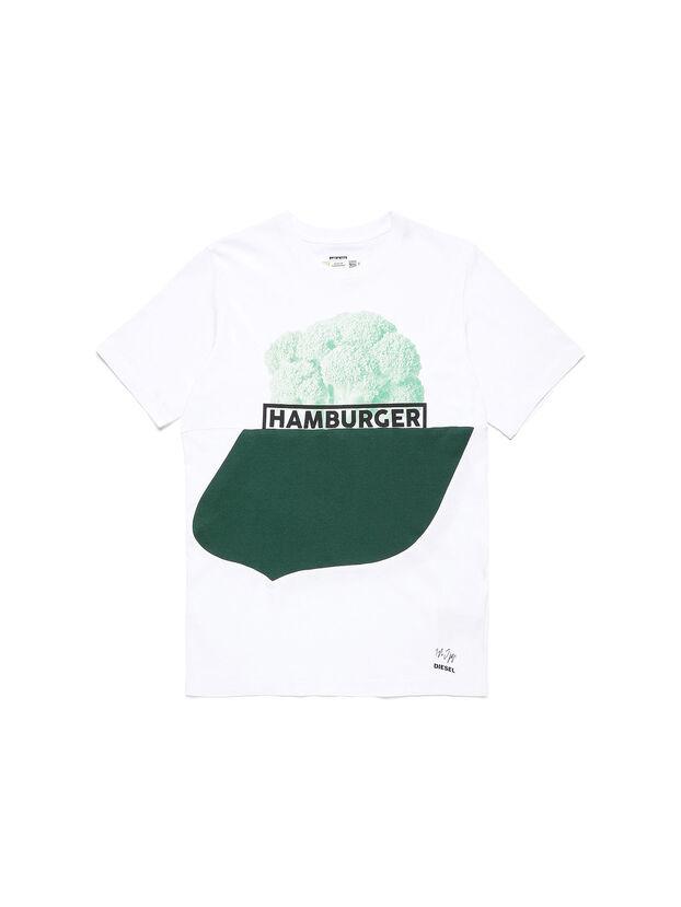 D-SHIELD-GREEN, White - T-Shirts
