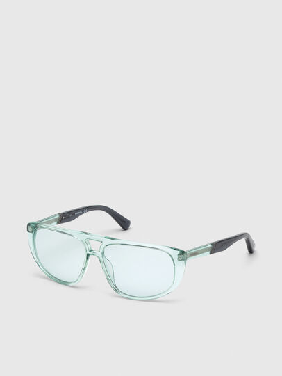 Diesel - DL0300, Light Blue - Sunglasses - Image 2