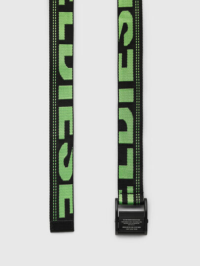 Diesel - B-MASER, Black/Green - Belts - Image 3