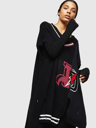 Diesel - M-LEADER, Black - Knitwear - Image 1