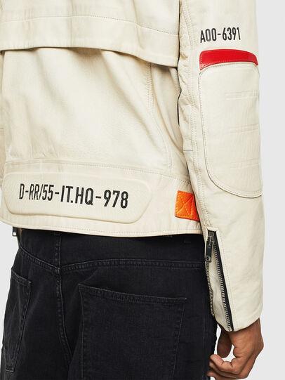 Diesel - L-DIXON, White - Leather jackets - Image 6