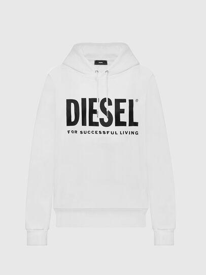 Diesel - F-ANG-HOOD-LOGO, White - Sweaters - Image 1