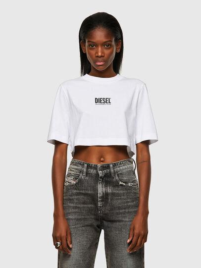 Diesel - T-RECROP-ECOSMALLOGO, White - T-Shirts - Image 1