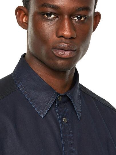 Diesel - D-MILLY-SP1, Dark Blue - Denim Shirts - Image 3
