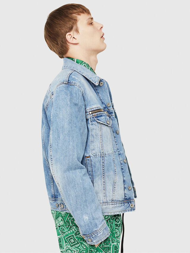 Diesel - D-ROY, Blue Jeans - Denim Jackets - Image 4