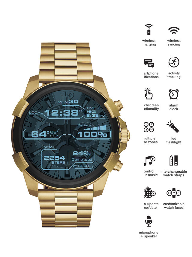 Diesel DT2005, Gold - Smartwatches - Image 1