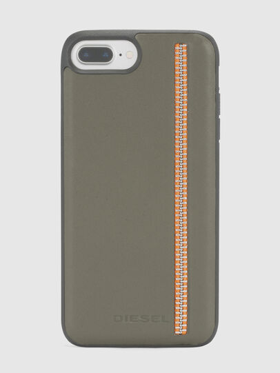 Diesel - ZIP OLIVE LEATHER IPHONE 8 PLUS/7 PLUS/6s PLUS/6 PLUS CASE,  - Cases - Image 2