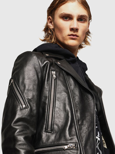 Diesel - L-PERF, Black - Leather jackets - Image 5