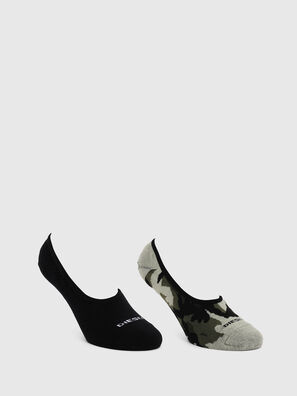 SKM-HIDEPAT-TWOPACK, Gray/Black - Socks