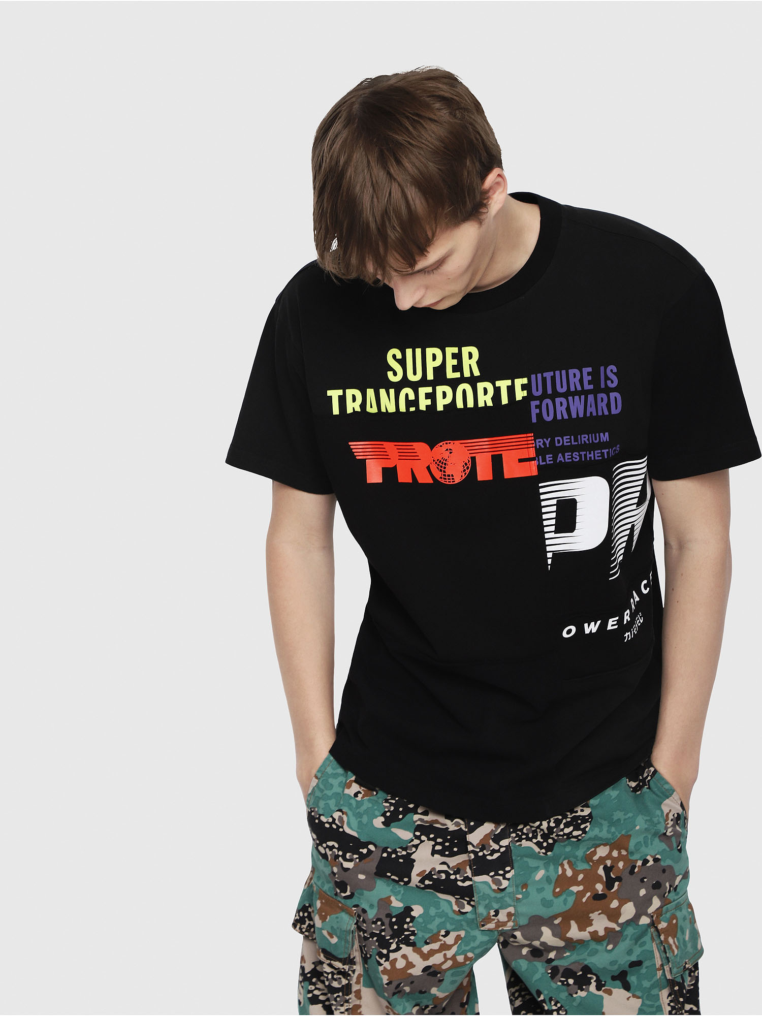 Diesel - T-WALLACE-CUT,  - T-Shirts - Image 1