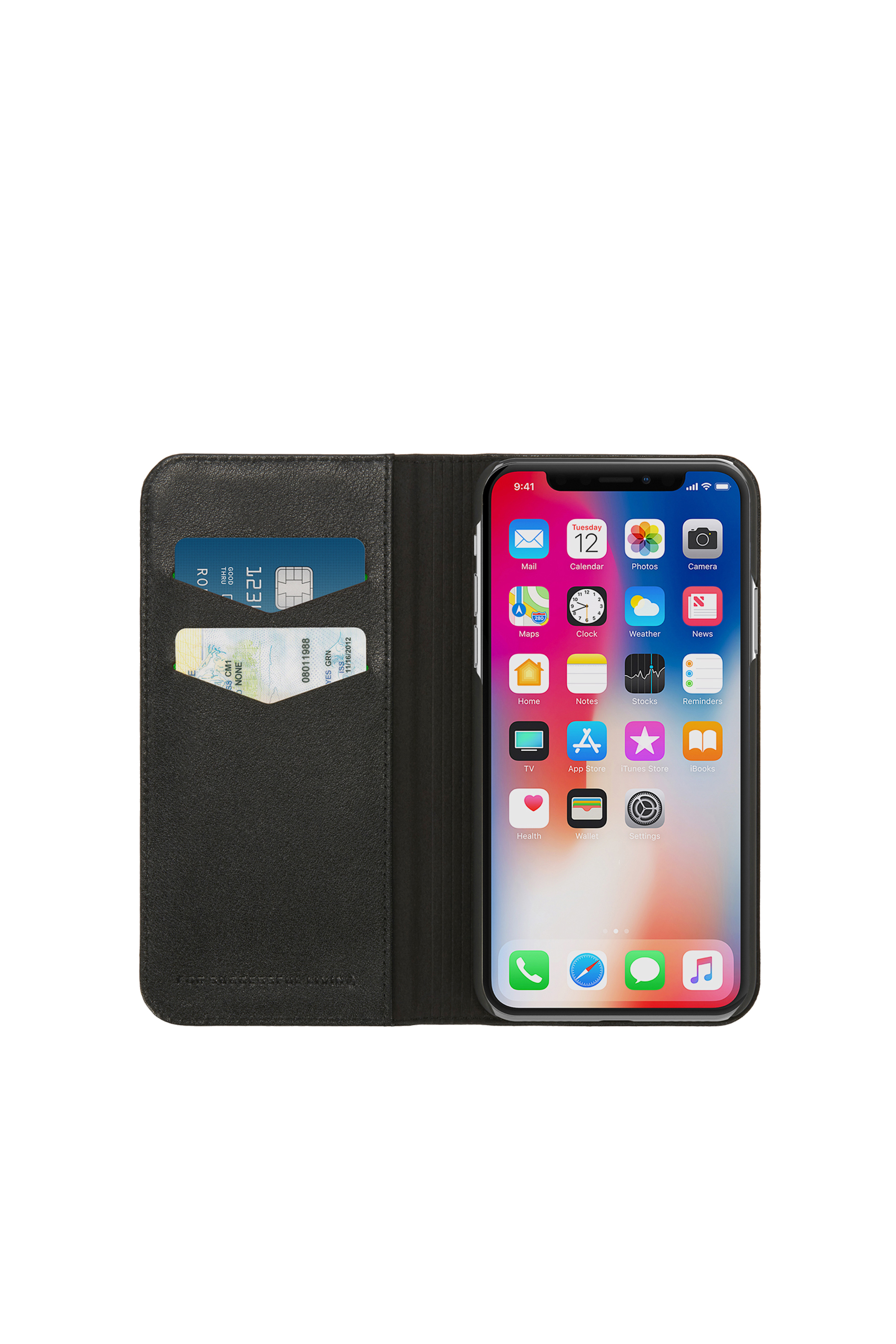 Diesel - SLIM LEATHER FOLIO IPHONE X,  - Flip covers - Image 6